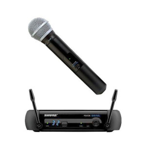 Wireless Shure microphone (range of 200 feet) for rent: $20